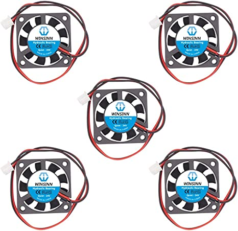 WINSINN - Ventilador de 40 mm, 24 V, rodamientos hidráulicos sin ...