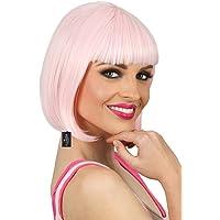 ALLAURA Deluxe Light Pink Long Bob Cosplay Costume Wig Short Straight Fibre