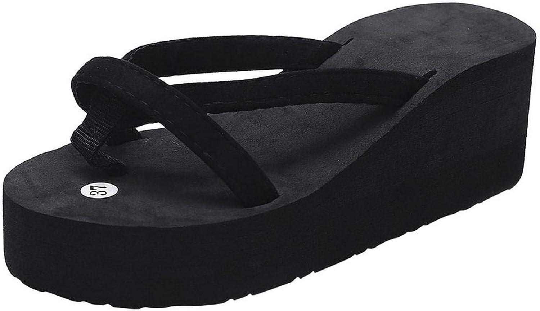 Fashion Summer Shoes Women Flip Flops Beach Slipper Girls Wedge Soft High Heel Slides Thick Sole Heeled