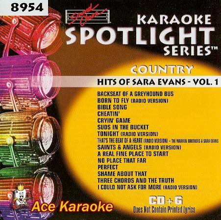 (Karaoke Music CDG: Sound Choice Spotlight CDG SCG8954 - Country Hits Of Sara Evans - Vol. 1)