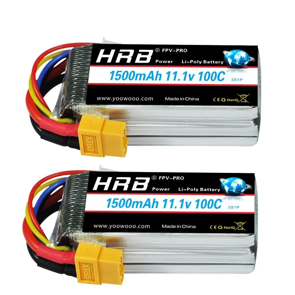 Baterias Lipo (2) 11.1v 1500mah Rc Hrb