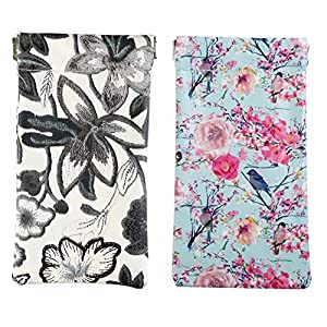 A Sund Squeeze Sunglasses Pouch Case Women Eyeglass Holder Pack of 2(15#)