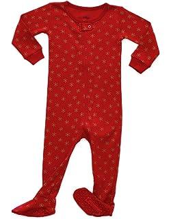 e19f285a986d Amazon.com  Elowel Baby Boys Girls Footed Christmas Striped Pajama ...