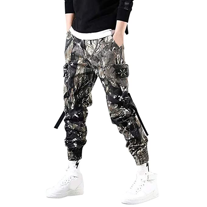 great deals 2017 recognized brands better price Rosatro Mens Track Pants Casual Gym Cargo Fitness Trousers ...