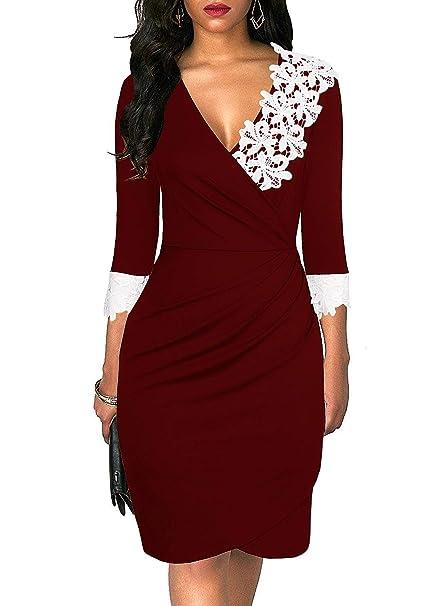 Amazon.com: HiLady - Vestido de fiesta para mujer, elegante ...