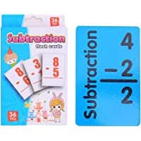 Mathematics Learning Flash Cards Questionno 36pcs Baby Math Card Kids English Learn Arithmetic Early Education Toy (-