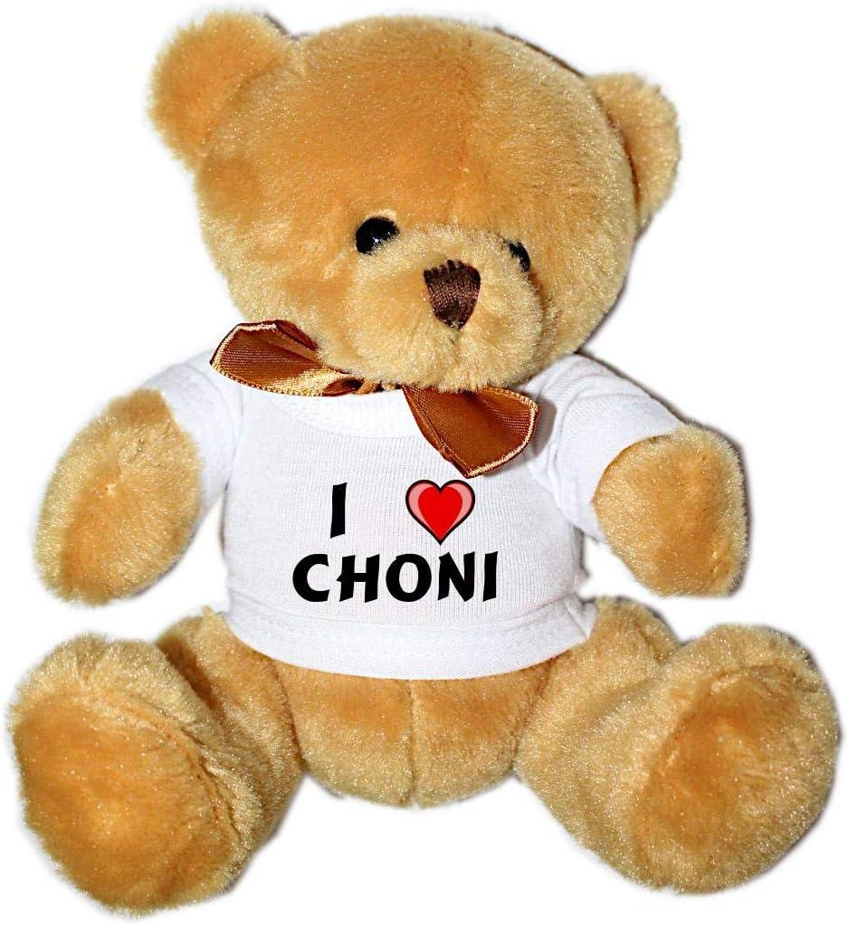 Oso de Peluche con Amo Choni en la Camiseta (Nombre de Pila ...