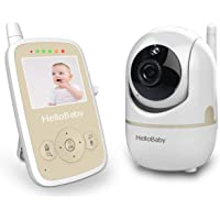 Baby Monitor with Remote Pan-tilt Camera, Infrared Night Mode, Two-Way intercom System, Rechargeable Battery, 2.4 Inch