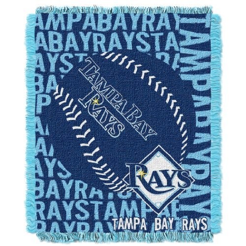 TAMPA BAY RAYS MLB TRIPLE WOVEN JACQUARD THROW (DOUBLE PLAY) (48X60) by Northwest