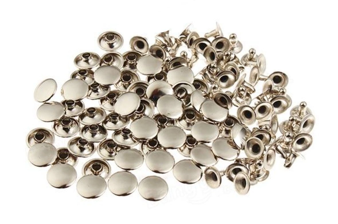 -- 200pcs 3mm Nickel Round Rivets Studs Nailhead Rock Biker RV213 THAILAND