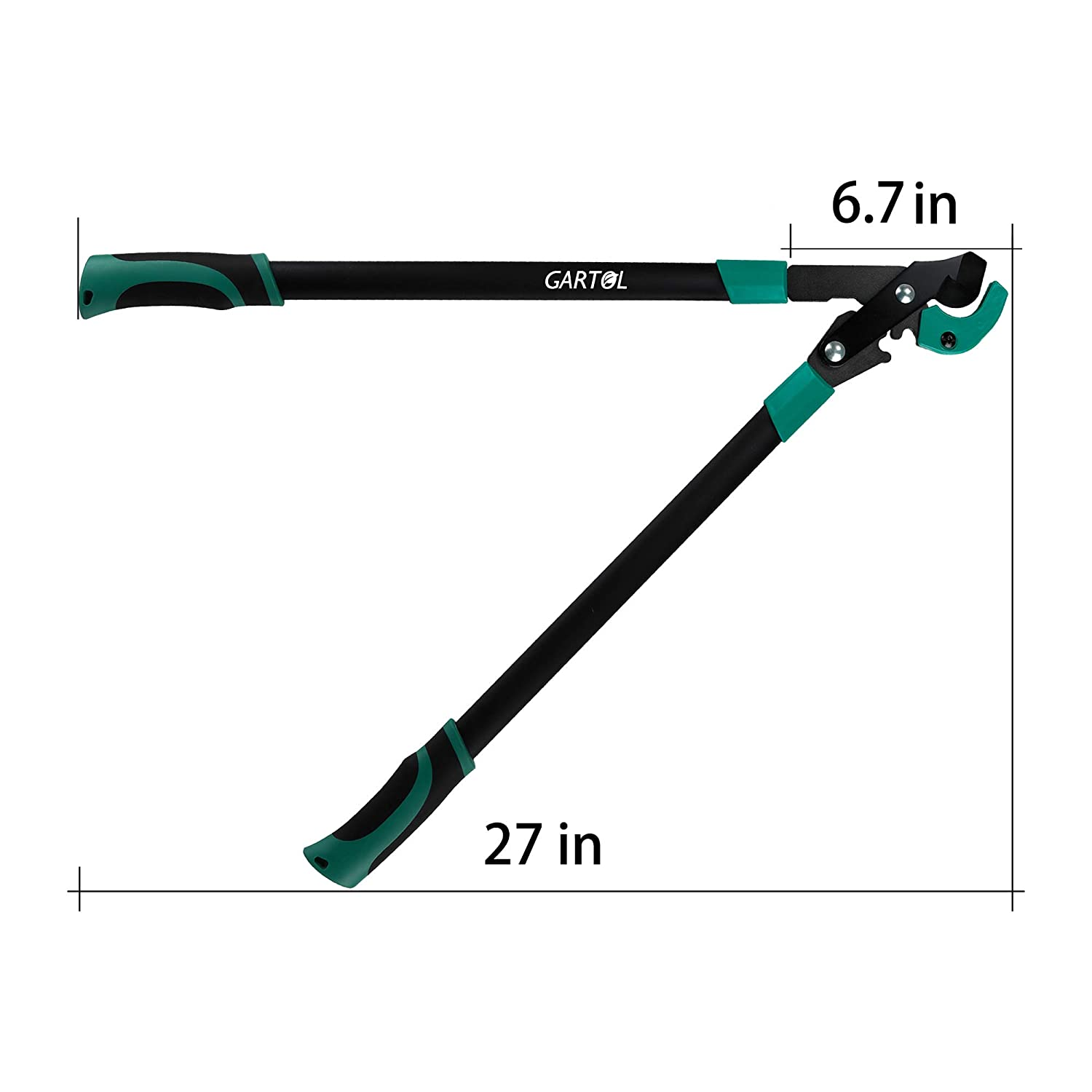 GARTOL Bypass Loppers Heavy Duty-27 Inch Anvil Lopper Garden Tree Branch Cutter, with Rachet Wheel Design,High-Carbon Steel Blade,Sturdy Thickened Iron Tube Handle