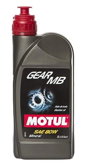 MOTUL 100958 - Aceite lubricante de Engranajes Gear MB SAE 80, 1 L: Amazon.es: Coche y moto