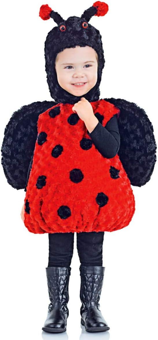 Costume vestito COCCINELLA ALI bambino 92-104 2-4 anni NUOVO