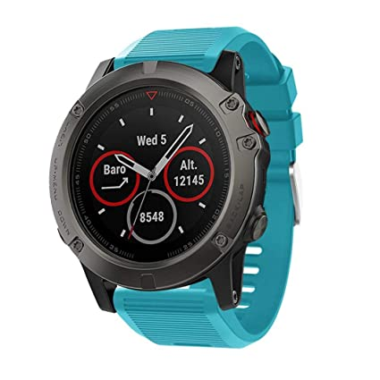 Gusspower Correa de Repuesto para Reloj Garmin Fenix 5 GPS Watch,Pulseras de Silicona de