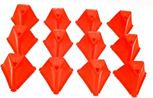 Trademark Innovations Plastic Triangle Cone Sports Training Gear, Pack of 12-5.5 inch Cones (Orange)