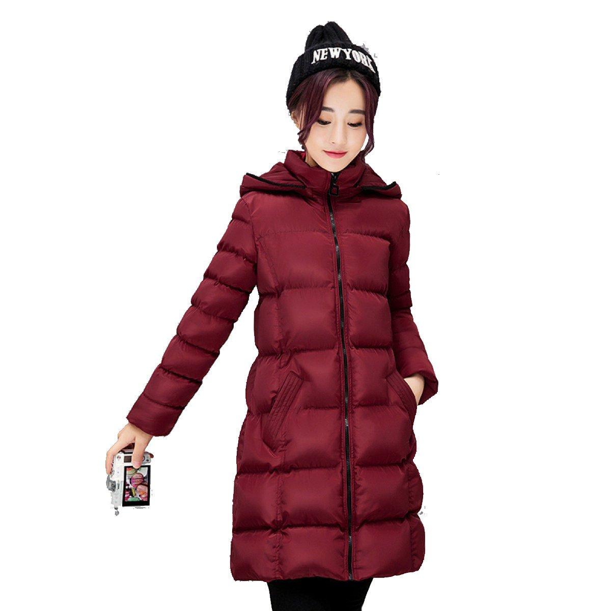 C grand nihiug Plume Coton Femelle Moyen Long Coréen Slim Pain Veste d'hiver Les Les dames Down veste lumière Mode Sauvage Chaud,A-L