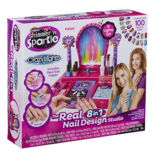 Studio Nail (Cra-Z-Art Shimmer N' Sparkle - Crazy Lights Real 8-in-1 Nail Design Studio)