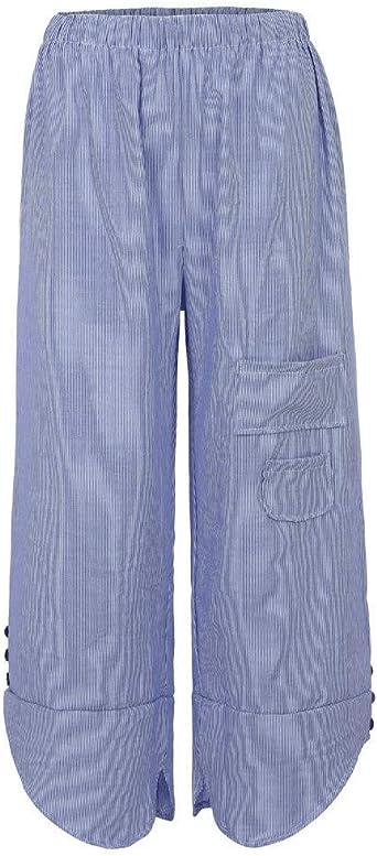Harem Taschen Hohe Taille Baumwollmischungen Hosen - Airydress