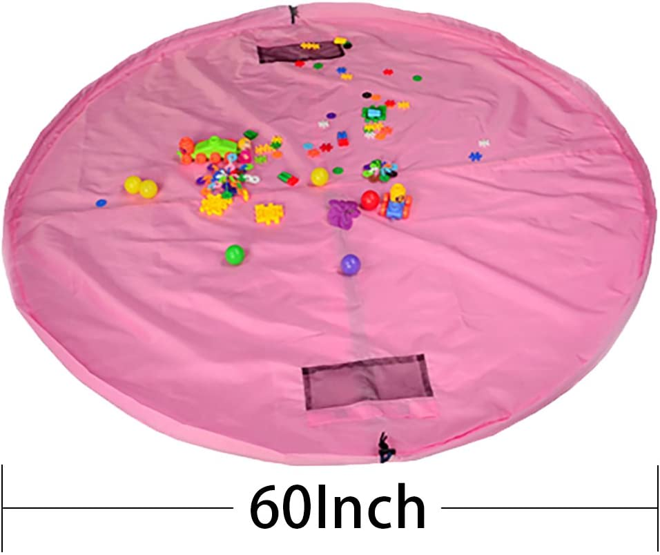 Sturdy-Pink - Childrens Play Mat and Toys Storage Bag Great for Storing Medium and Large Size Toy Portable Pink 150cm Kids Playbag Toys Organiser Quick Pouch