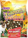 Tropical Carnival F.M. Brown's Gourmet Pet Rabbit Food with High-Fiber Timothy and Alfalfa Hay Pellets, Probiotics for Digestive Health, Vitamin-Nutrient Fortified Daily Diet, 10lb
