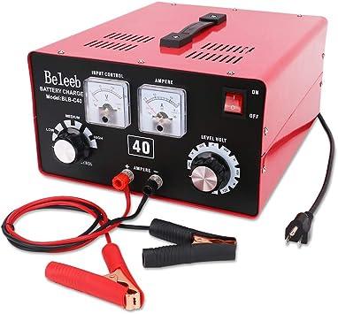 Beleeb Battery Charger Automotive 12V//24V Voltage Adjustable Trickle Charger//Maintainer,2-200Ah