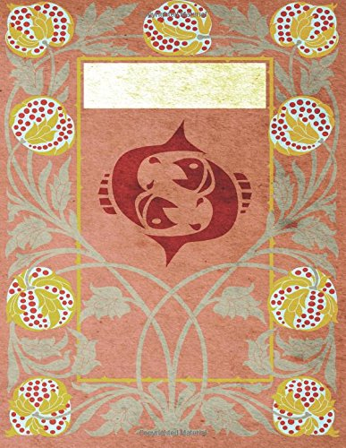 Read Online Monogram Pisces Sketchbook: Blank Art Pad Notebook Journal (Monogram NouveauThree 150 Sketch) (Volume 76) PDF
