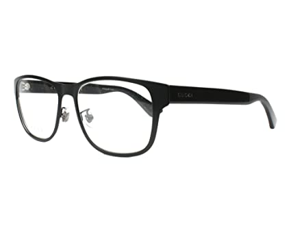 e7a6fe02ca8 Image Unavailable. Image not available for. Color  Gucci GG0007O Eyeglasses  55-16-145 Matte Black 001 GG 0007O