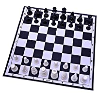 IMTION Professional Chess Medium Set (Fide Standards)- with 32 Pieces Board Game (Black Chess Set)