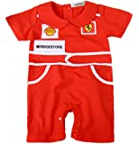 stylesilove Infant Toddler Chic Red Car Racer Baby Boy Romper Onesie