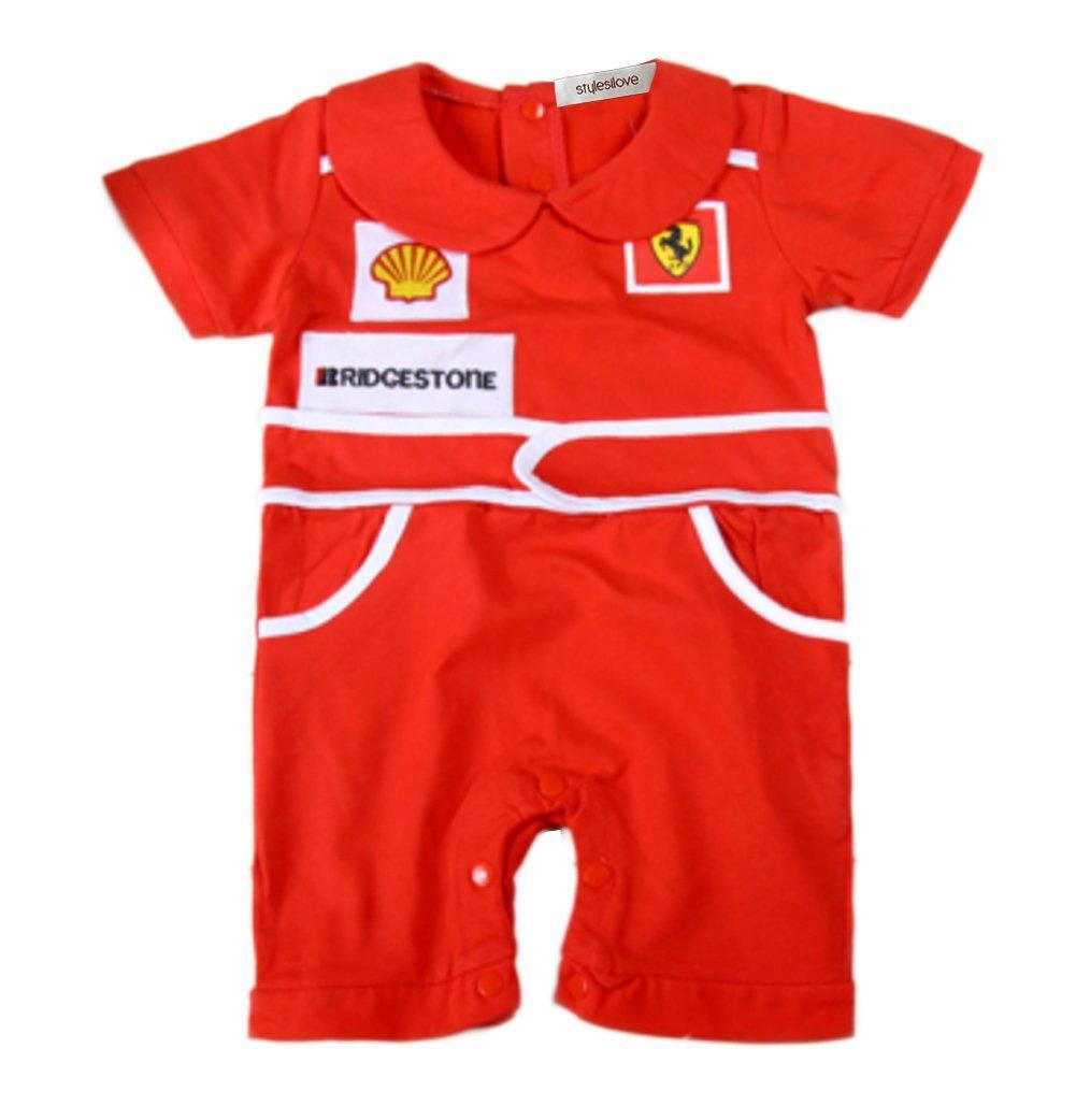 StylesILove Infant Toddler Chic Red Car Racer Baby Boy Romper Onesie