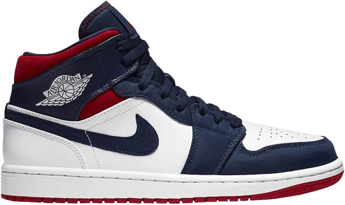 | Jordan Men's Shoes Nike Air 1 Retro Mid Se Olympic 852542-104 | Basketball