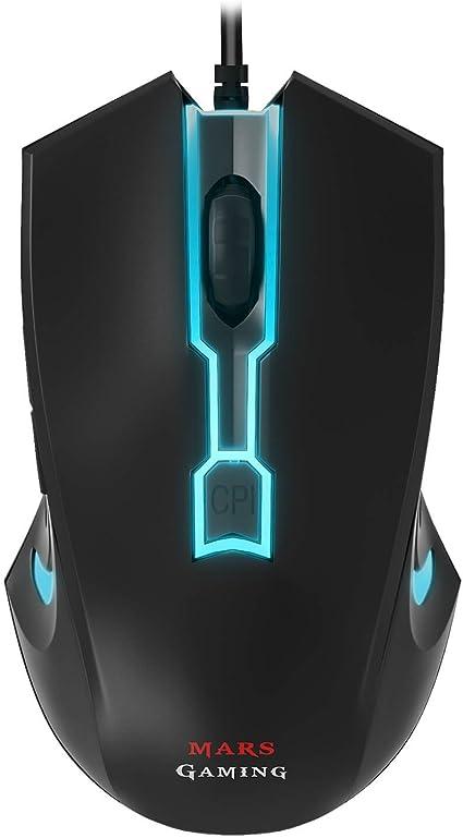 Mars Gaming MAM0, Ratón para Gaming, 1, Negro: Amazon.es: Informática