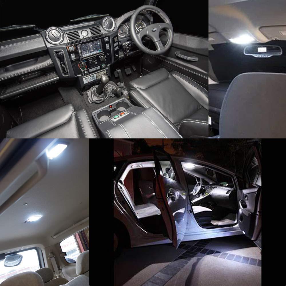 3175 6428 DE3022 DE3021 1.25 Festoon led light Bulb for Car Interior Dome Map Light Canbus Error Free 6000K Xenon White 14smd 3014 Chipset 6pcs 31mm DE3175 LED Bulbs