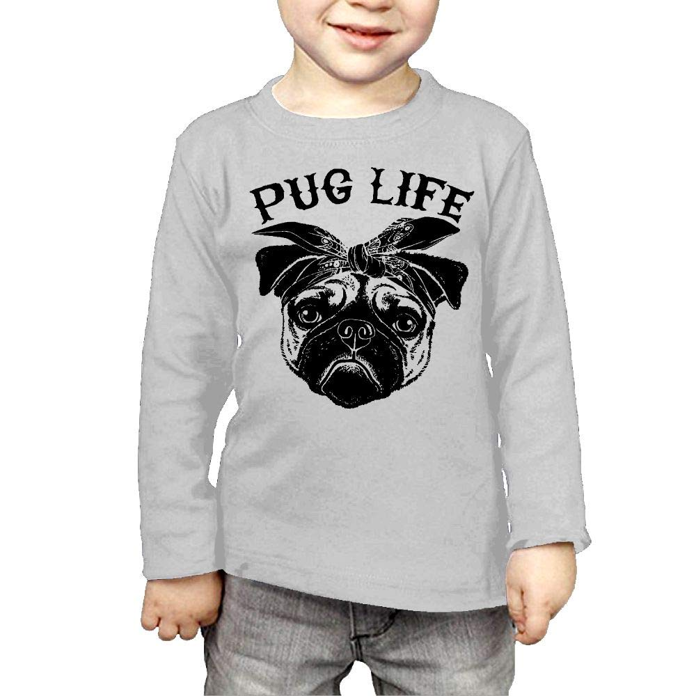 Fryhyu8 Toddler Childrens Pug Life Printed Long Sleeve 100/% Cotton Infants Clothes