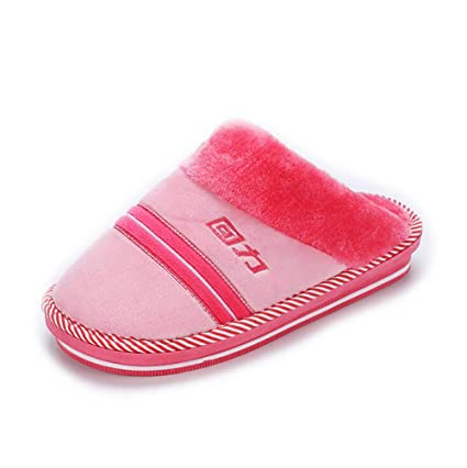 SHANGXIAN Mujer Casa Pantuflas Comodidad Invierno Cálido Interior Pantuflas Suave Espuma De Memoria Zapatos,B