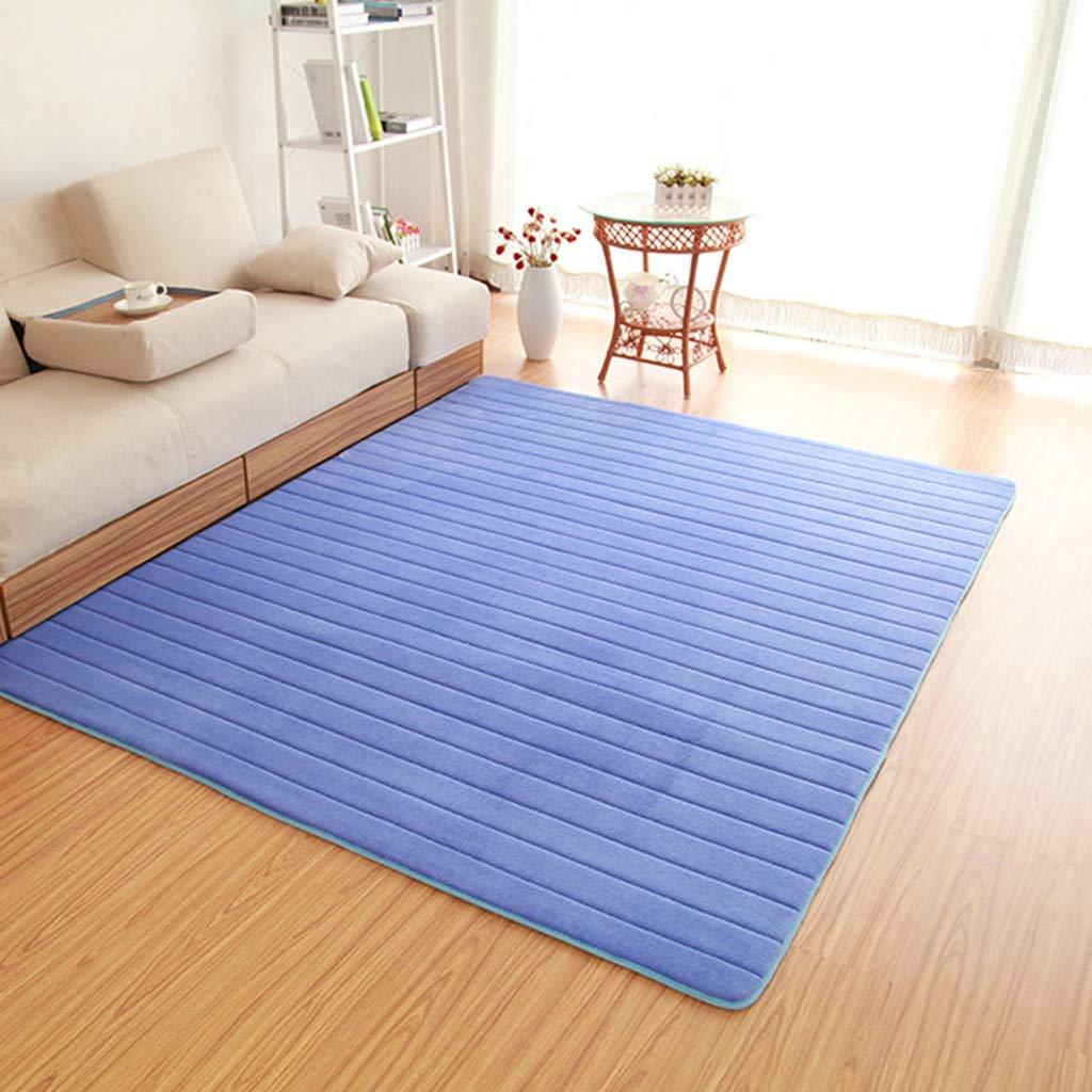 Bleu 80400cm LYQZ Tapis épais de Plancher de Salon de Table Basse de Tapis de Couloir de Tapis de Balcon de Tatami Mignon Fait sur Comhommede (Couleur   Bleu, Taille   120  700cm)
