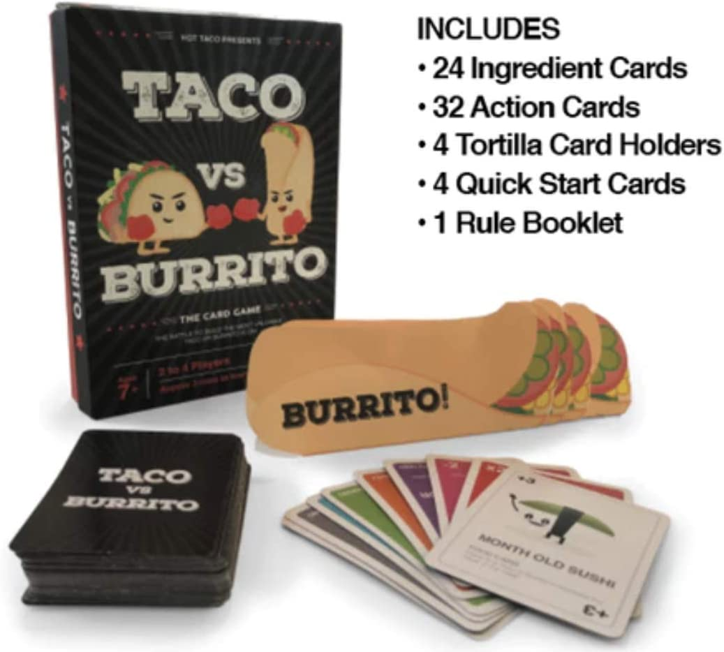 Taco vs Burrito - Card Game Created by a 7 Year Old