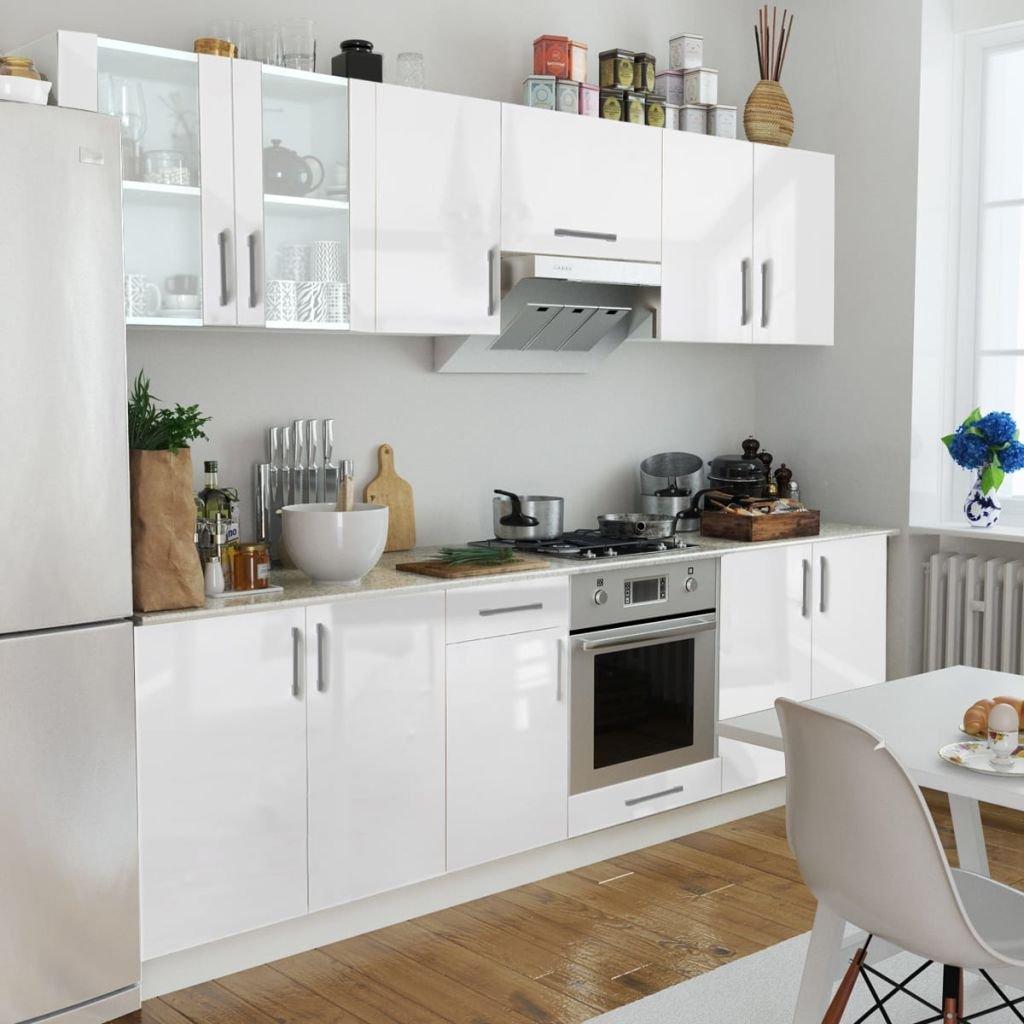 lingjiushopping cocina brillante blanco 260 cm