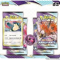 Blister Quadruplo Snorlax Pokémon Espada e Escudo 6 Reinado Arrepiante