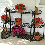 Panacea Forged Steel 3-Tier Patio Plant Stand Set