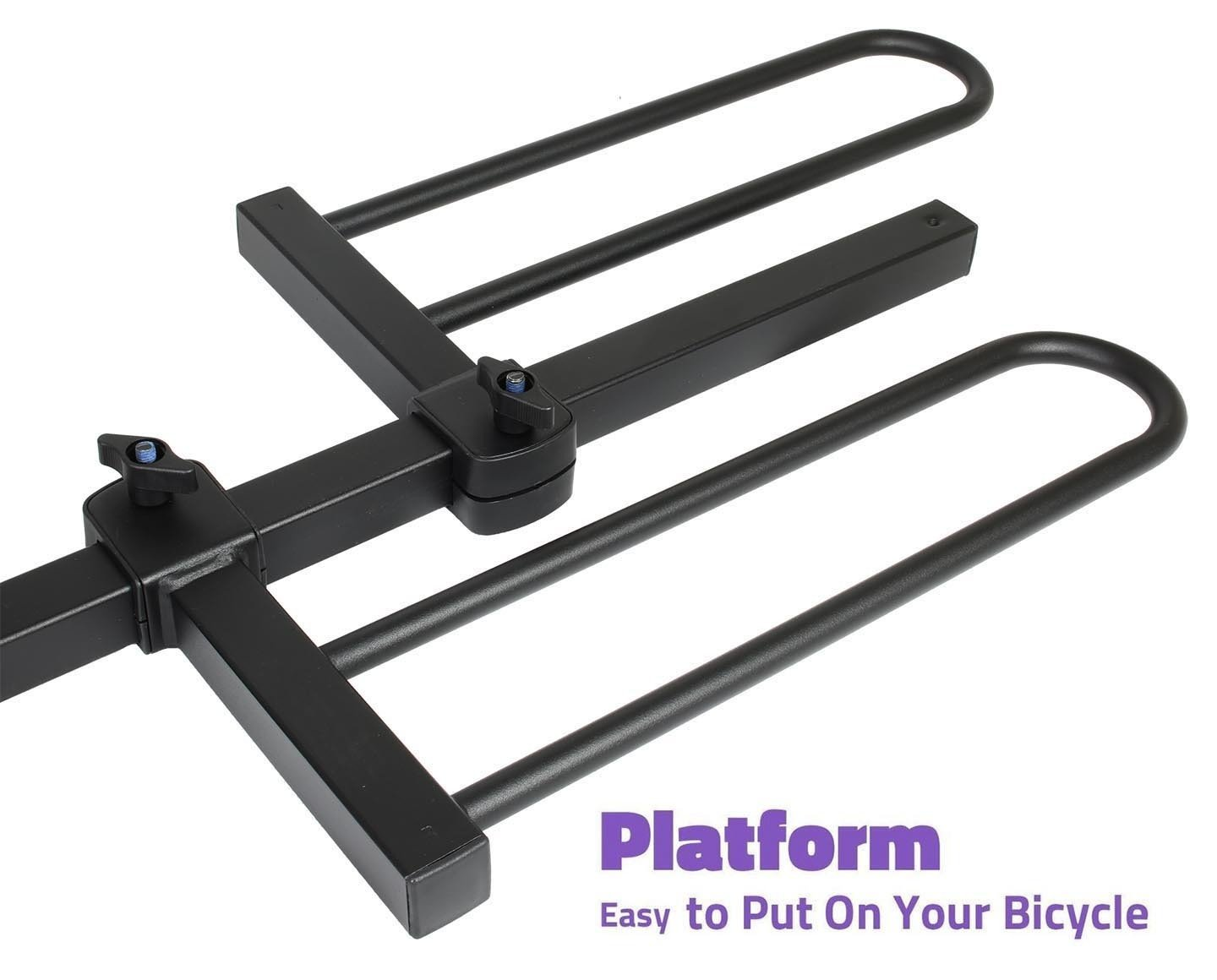 Venzo 2-4 Bike Bicycle Platform Style 2 or 1.25 Hitch Mount Car Rack Carrier