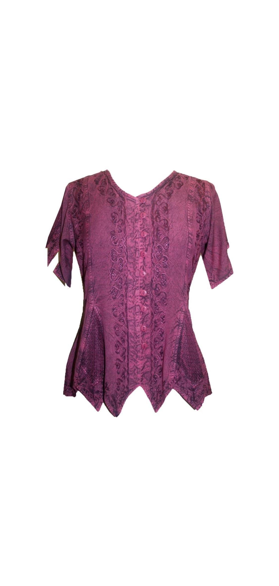 Renaissance Gypsy Medieval Netted Assymetrical Hem
