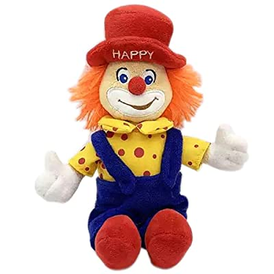 Poooc Hand Puppet Plush Clown Doll Lifelike Cartoon Puppet Preschool Storytelling Kids Toys Childs Doll Creative Funny Clown Plush Stuffed Figure Toy Best Birthday Christmas Party Gifts: Sports & Outdoors