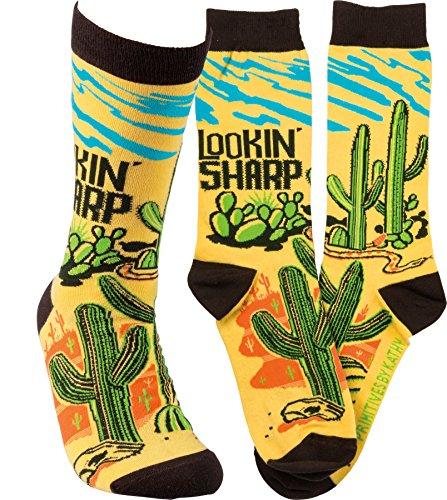 Primitives By Kathy Mens Lookin Sharp Socks One Size 6bMBt