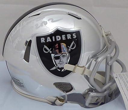 4de16588348 Rich Gannon Autographed Oakland Raiders Chrome Speed Mini Helmet quot NFL  MVP 2002 quot  Beckett BAS