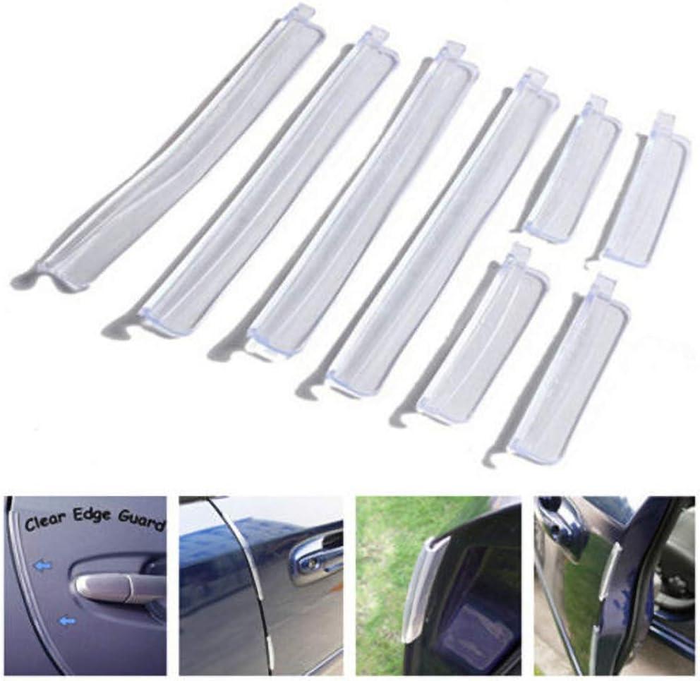 Brussels08 Lot de 8 protections de bord de porte de voiture anti-rayures
