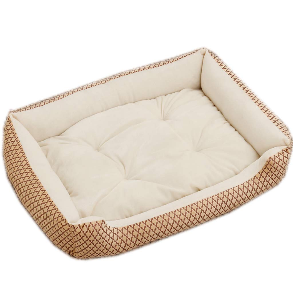 Large Kennel Color : White, SizeName : M-70 * 55cm Color: White, Brown Creative Pet Beds Pet Dog Mats are Universal Bite-Resistant and Washable