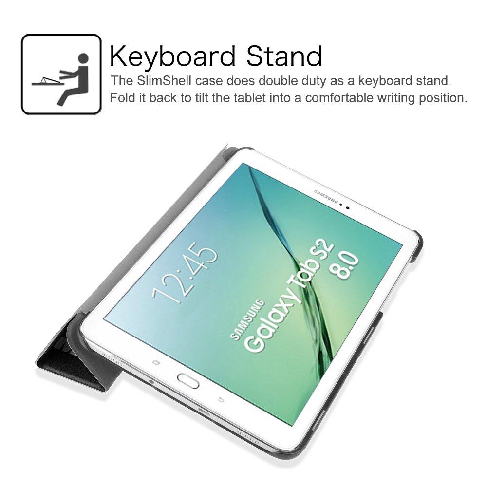 Fintie SlimShell Funda para Samsung Galaxy Tab S2 8.0 Negro S/úper Delgada y Ligera Carcasa con Funci/ón de Soporte y Auto-Reposo//Activaci/ón para Modelo de SM-T710//T715//T719