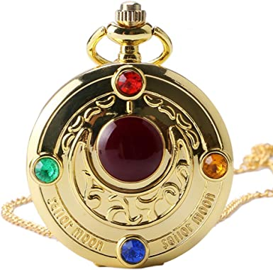 Reloj de Bolsillo para Hombre, Retro Colorido Anime Sailor Moon Series Mujer Reloj de Bolsillo, Regalo para Hombres: Amazon.es: Relojes