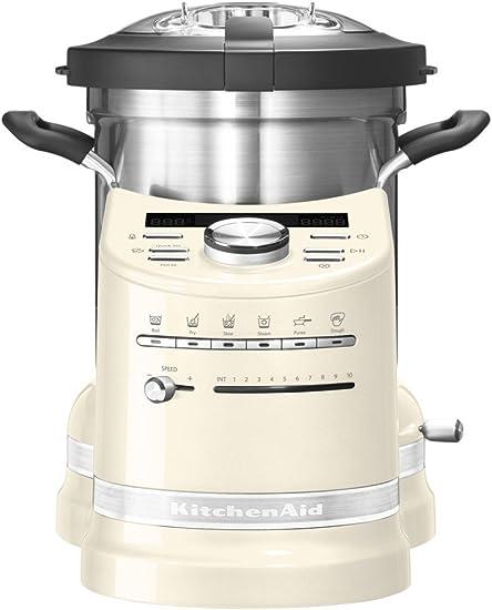 KitchenAid 5KCF0103EAC/4 1500W 4.5L Crema de color - Robot de cocina (4,5 L, Crema de color, Botones, palanca, Giratorio, 2300 RPM, 1 m, Acero inoxidable): Amazon.es: Hogar